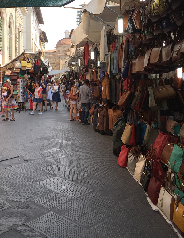 Leather market near the San Lorenzo church